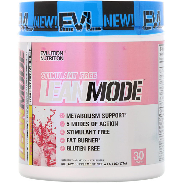 EVLution Nutrition, LeanMode, Stimulant Free Fat Burner, Pink Lemonade, 6.1 oz (174 g) (Discontinued Item)