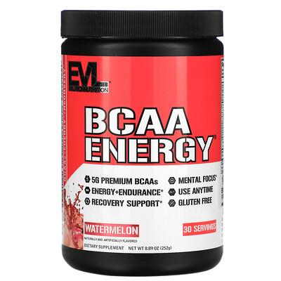 EVLution Nutrition BCAA ENERGY, Watermelon, 8.89 oz (252 g)