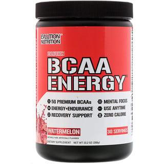 EVLution Nutrition, BCAA Energia, Melancia, 10,2 oz (288 g)
