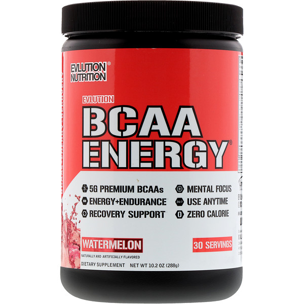 EVLution Nutrition, BCAA En能量ergy,西瓜,10、2盎司(288克)