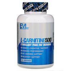 EVLution Nutrition, L-CARNITINE500 膳食補充劑,120 粒膠囊