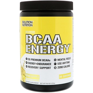EVLution Nutrition, BCAA Energy, Abacaxi, 273 g