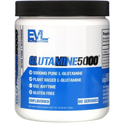 Купить EVLution Nutrition Glutamine5000, Unflavored, 5, 000 mg, 10.58 oz (300 g)