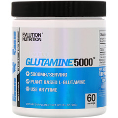 EVLution Nutrition, Glutamine5000, 5000 mg, Unflavored, 10.6 oz (300 g)