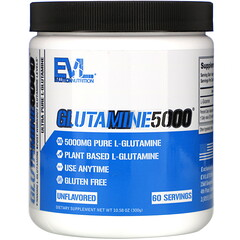 EVLution Nutrition, 穀氨醯胺 5,000,原味,5,000 毫克,10.58 盎司(300 克)