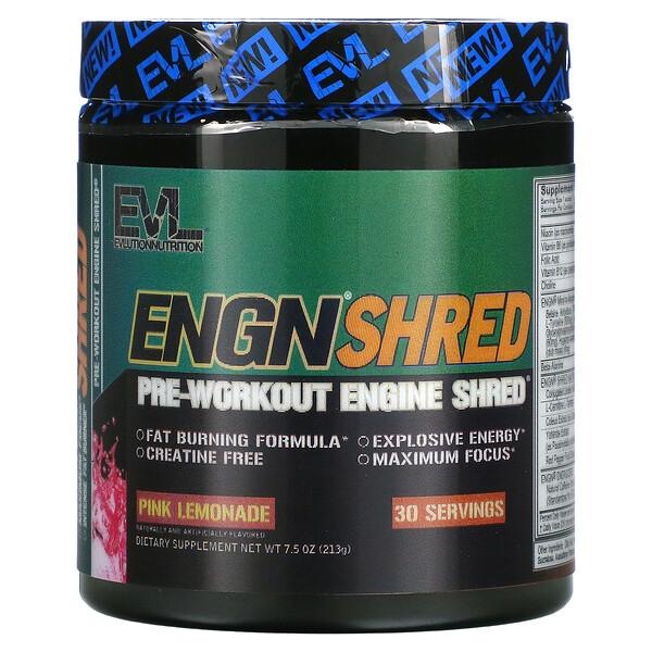 ENGN Shred, Pre-Workout Shred Engine, Pink Lemonade, 7.5 oz (213 g)