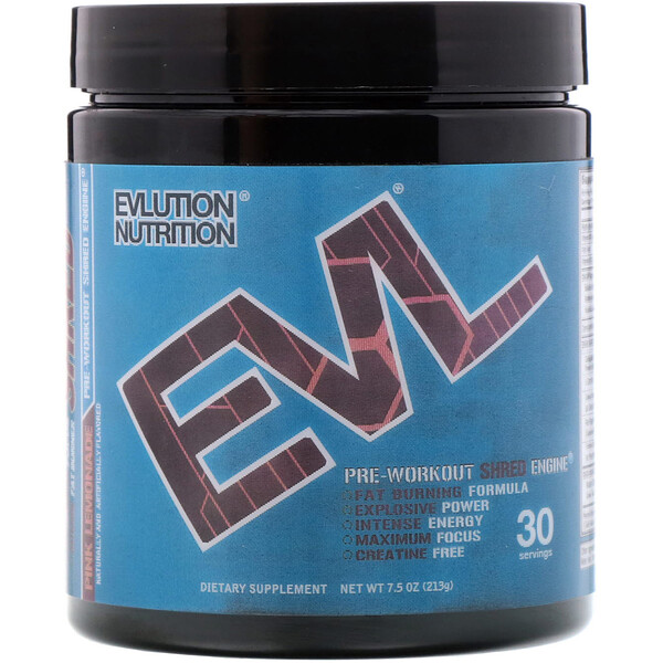 ENGN Shred, Pre-Workout Shred Engine, Pink Lemonade, 7.5 oz (213 g)