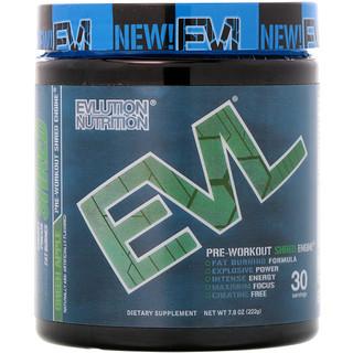 EVLution Nutrition, ENGN Shred, Pré-treino Shred Engine, Maçã Verde, 7,8 oz (222 g)