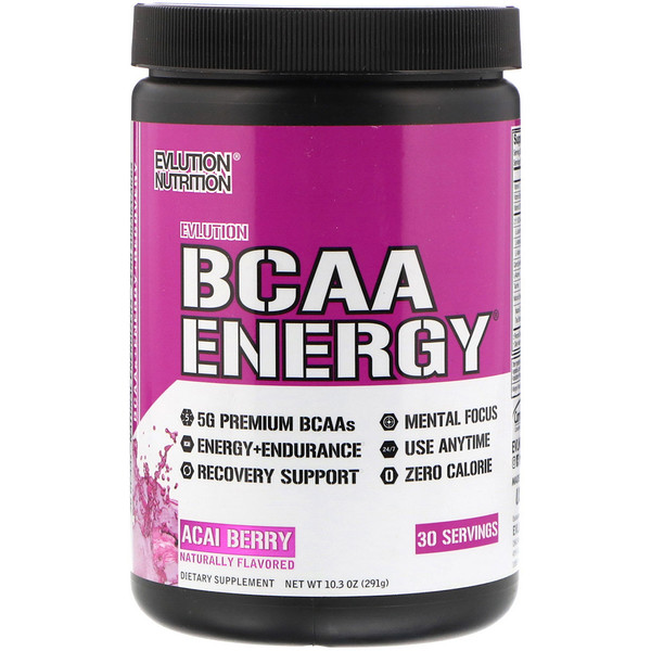EVLution Nutrition, BCAAエナジー、アサイベリー、10.3 oz (291 g) (Discontinued Item)
