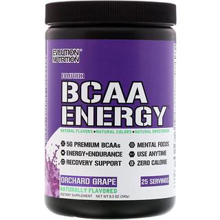 EVLution Nutrition, BCAA Energy, Orchard Grape, 8.5 oz (240 g)