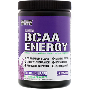 Эвлюшэн Нутришен, BCAA Energy, Orchard Grape, 8.5 oz (240 g) отзывы
