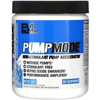 EVLution Nutrition, PumpMode, Non-Stimulant Pump Accelerator, Blue Raz, 6.46 oz (183 g)