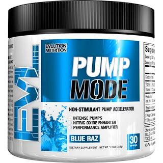 EVLution Nutrition, PumpMode, Non-Stimulant Pump Accelerator, Blue Raz, 5.9 oz (168 g)