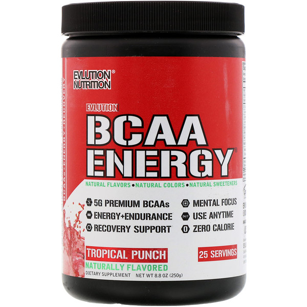 EVLution Nutrition, BCAA Energy, Tropical Punch, 8.8 oz (250 g) (Discontinued Item)