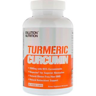 EVLution Nutrition, Curcumina de açafrão, 90 cápsulas vegetais