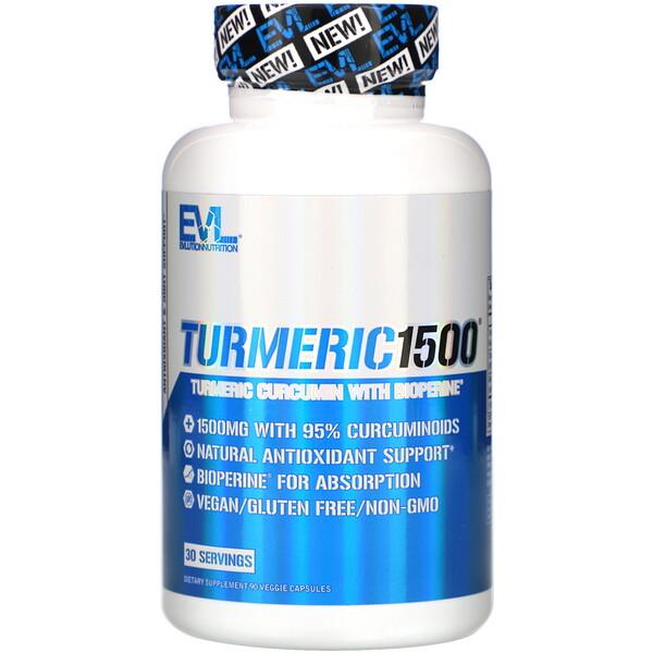 Turmeric1500, 90 веганских капсул