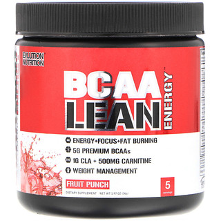 EVLution Nutrition, BCAA Lean Energy, Fruit Punch, 1.97 oz (56 g)