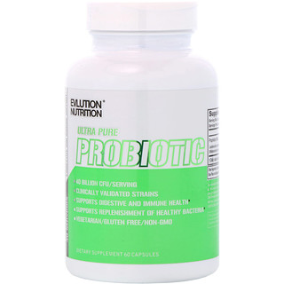 EVLution Nutrition, Ultra Pure Probiotic, 40 Billion CFU, 60 Capsules