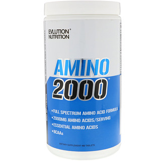 EVLution Nutrition, Amino 2000, 480 Tablets