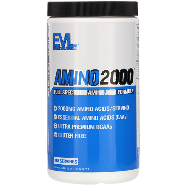 EVLution Nutrition, Amino2000, Full Spectrum Amino Acid Formula, 480 Tablets