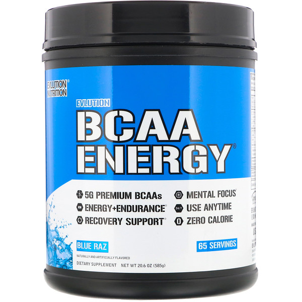 EVLution Nutrition, BCAA Energy, Blue Raz, 20.6 oz (585 g)