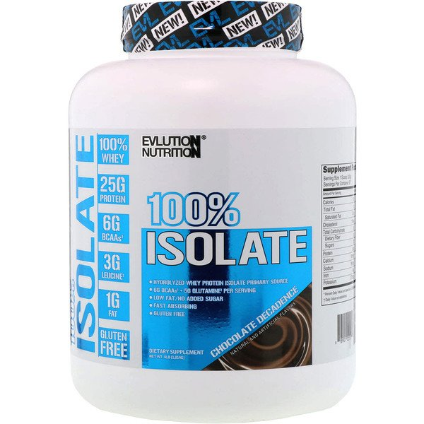 EVLution Nutrition, 100% Isolate, Chocolate Decadence, 4 lb (1814 g) (Discontinued Item)