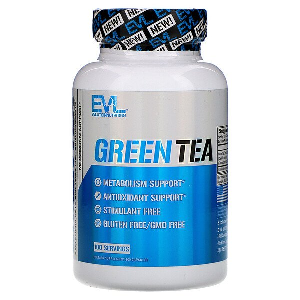 EVLution Nutrition, Green Tea, 100 Capsules (Discontinued Item)