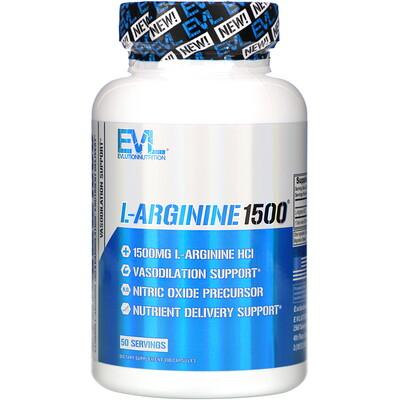 Купить EVLution Nutrition L-аргинин 1500, 100капсул