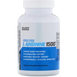 EVLution Nutrition, L-Arginine 1500左旋精氨酸,100粒膠囊