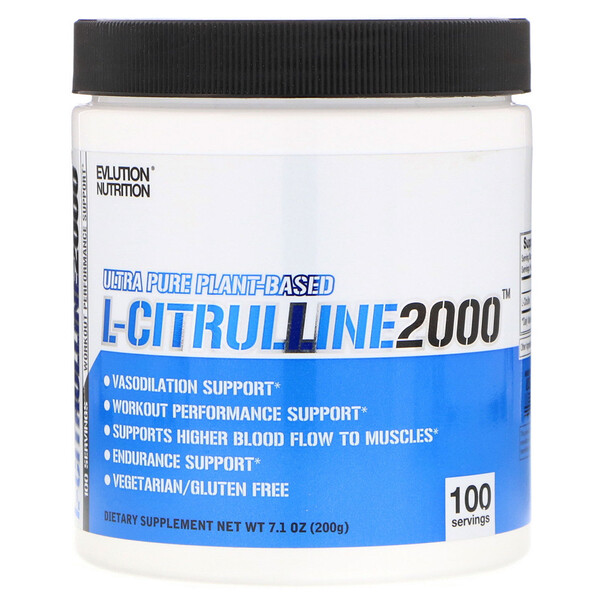 EVLution Nutrition, L-Citrulline 2000, 7.1 oz (200 g) (Discontinued Item)
