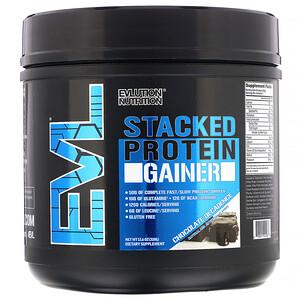 Эвлюшэн Нутришен, Stacked Protein Gainer, Chocolate Decadence, 11.6 oz (328 g) отзывы