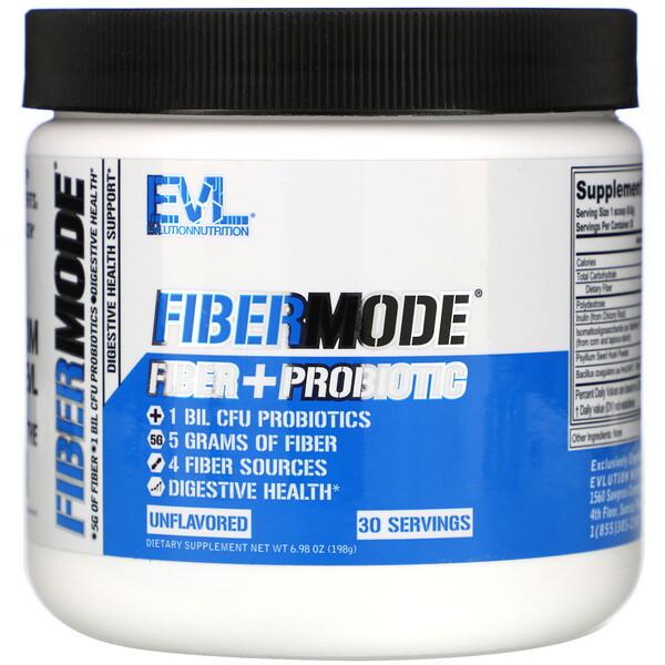 FiberMode, Fiber + Probiotic, Unflavored, 6.98 oz (198 g)