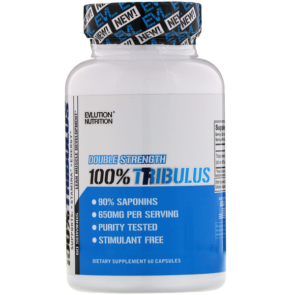 EVLution Nutrition, Double Strength, 100% Tribulus, 60 Capsules
