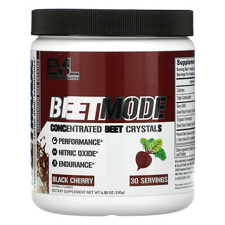 EVLution Nutrition, BeetMode, Concentrated Beet Crystals, Black Cherry, 6.88 oz (195 g)