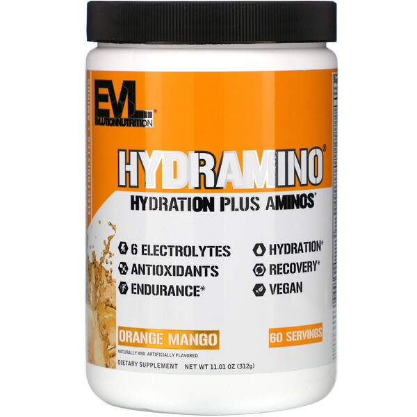 EVLution Nutrition, Hydramino, Orange Mango, 11.01 oz (312 g) (Discontinued Item)