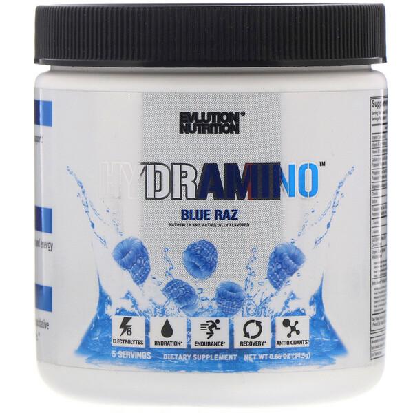 EVLution Nutrition, Hydramino, Blue Raz, 0.86 oz (24.5 g) (Discontinued Item)