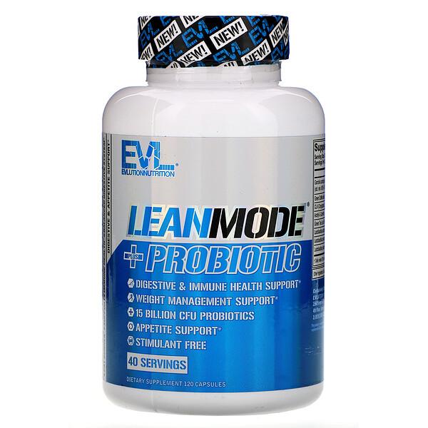 EVLution Nutrition, LeanMode + Probiotic, 120 Capsules