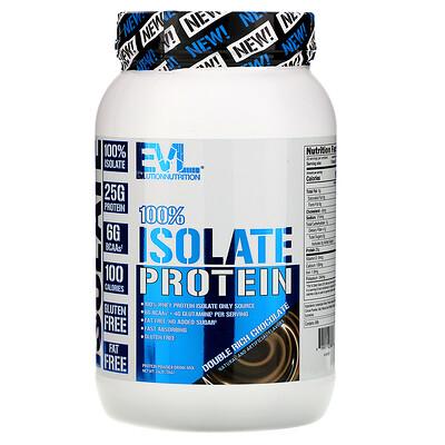 Купить EVLution Nutrition 100% изолят белка, двойной насыщенный шоколад, 726 г (1, 6 фунта)