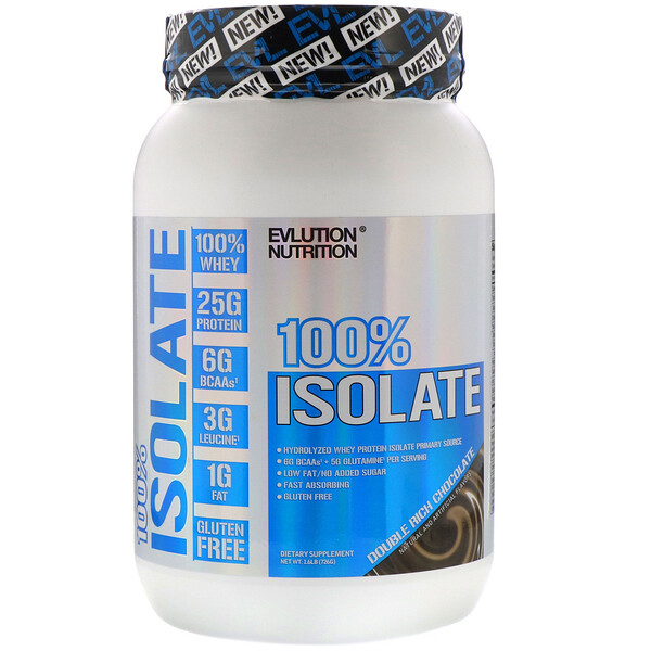 100% Isolate, Double Rich Chocolate, 1.6 lb (726 g)