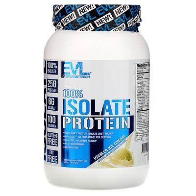 Купить EVLution Nutrition 100% изолят белка, ванильное мороженое, 726 г (1, 6 фунта)