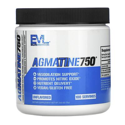 Купить EVLution Nutrition Agmatine750, Unflavored, 2.65 oz (75 g)
