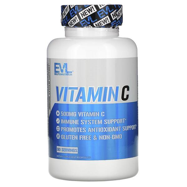 Vitamin C, 500 mg, 90 Capsules