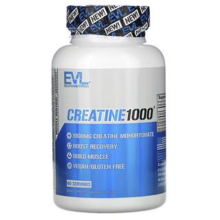 EVLution Nutrition, Creatine1000, креатин, 1000 мг, 120 растительных капсул