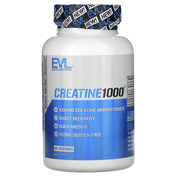 Creatine1000, 1,000 mg, 120 Veggie Capsules