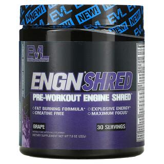 EVLution Nutrition, ENGN Shred, Pre-Workout Engine Shred, Grape, 7.8 oz (222 g)