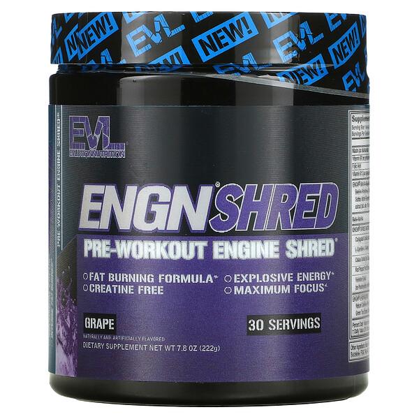 ENGN Shred, Pre-Workout Engine Shred, Grape, 7.8 oz (222 g)