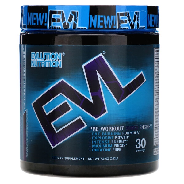 EVLution Nutrition, ENGN Shred, Pre-Workout Shred Engine, Grape, 7.8 oz (222 g)