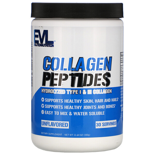 EVLution Nutrition, Collagen Peptides, Unflavored, 11.64 oz (330 g)