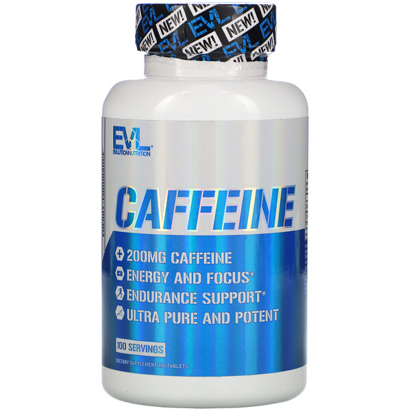 EVLution Nutrition, Caffeine, 200 mg, 100 Tablets