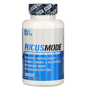 EVLution Nutrition, FocusMode, 30 Veggie Capsules
